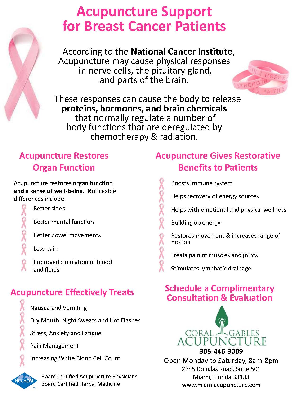 Acupuncture for breast cancer patient. Acupuncture can help with cancer and oncology
